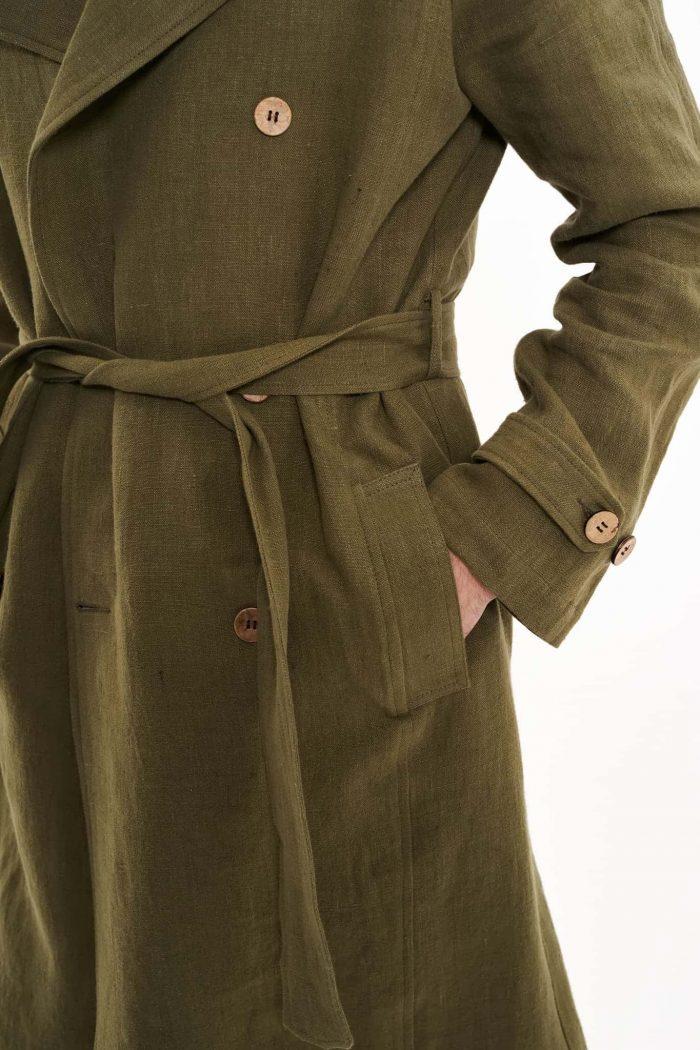 hemp trench coat