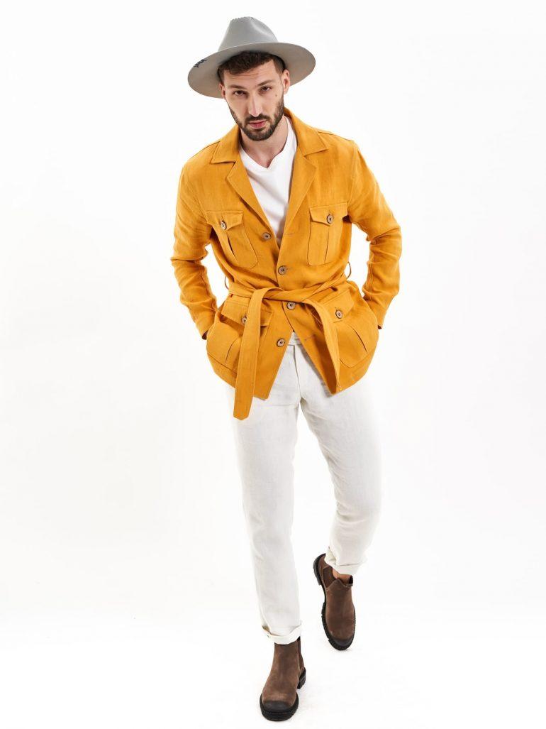 hemp safari jacket