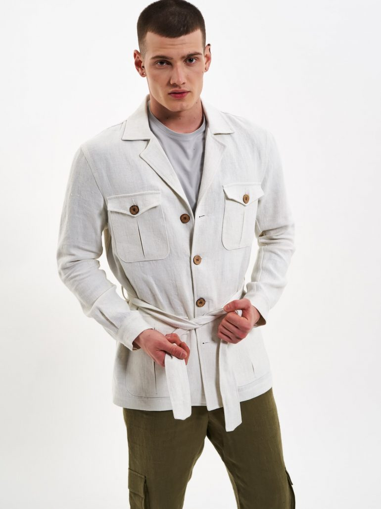 hemp safari jacket