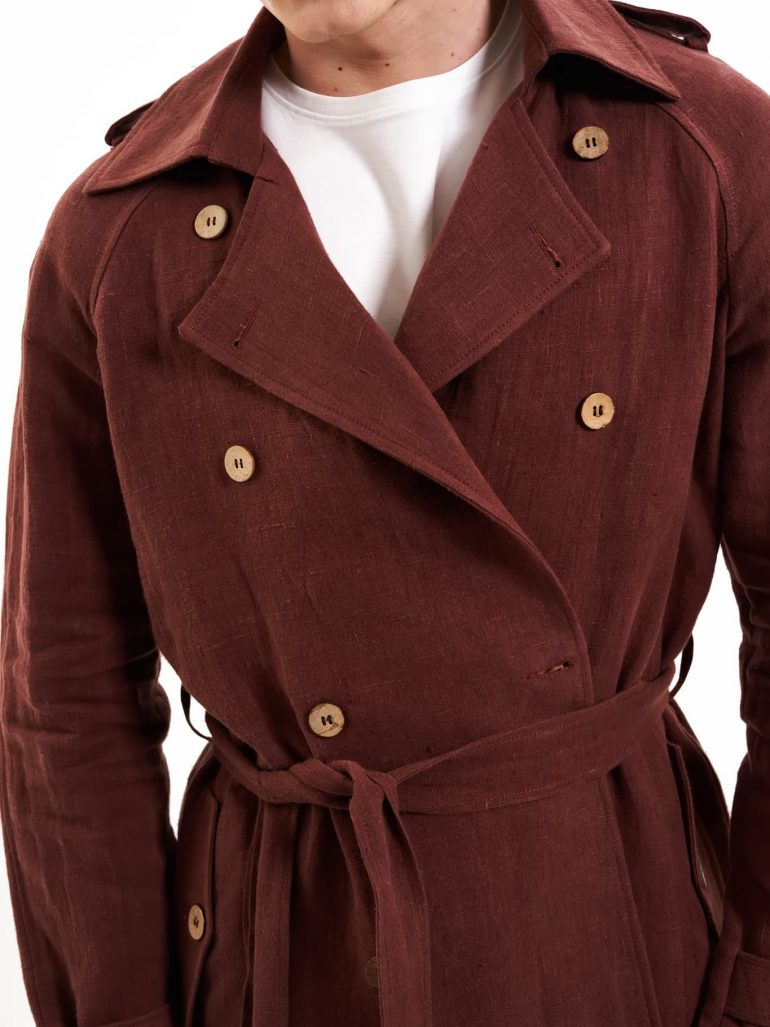 hemp trench coat