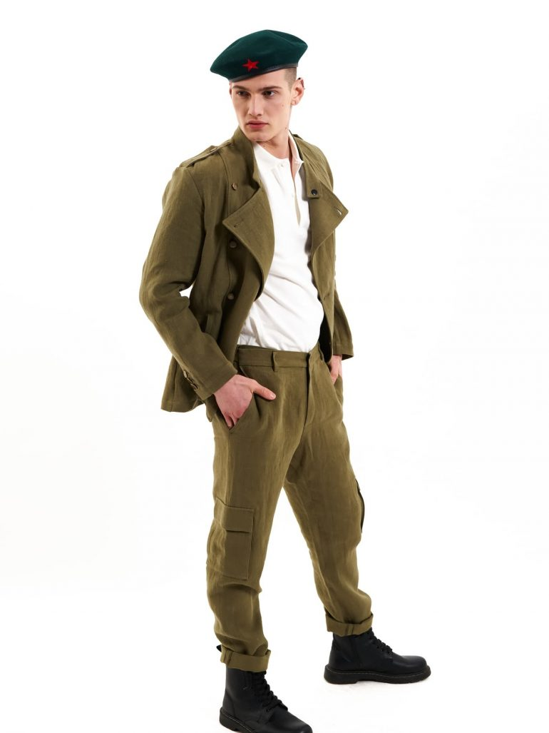 hemp cargo trousers