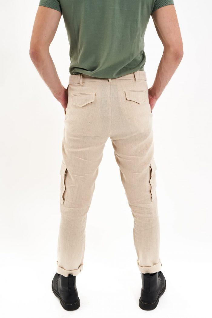 hemp cargo trousers