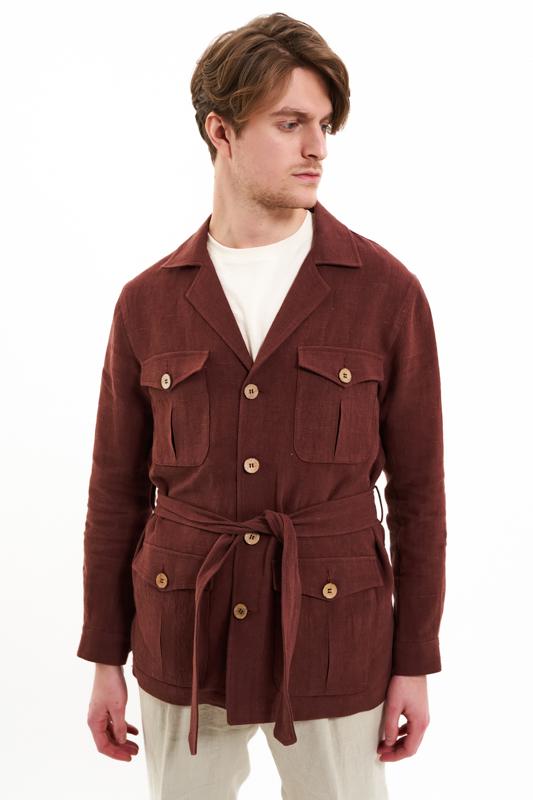 Whiskey Brown Safari Jacket