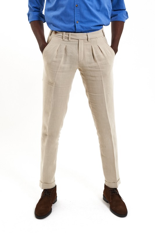Beige Crisana Hemp Trousers