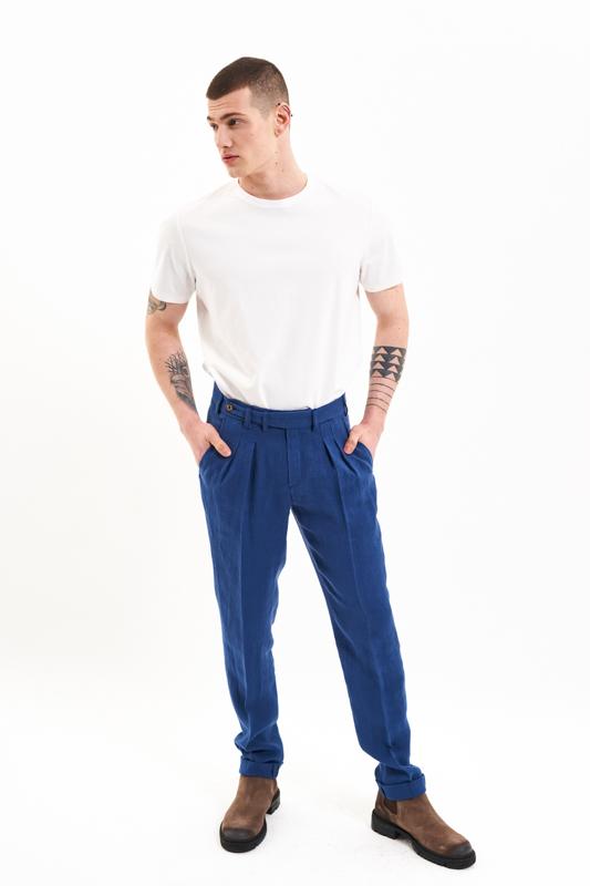 Navy Crisana Hemp Trousers