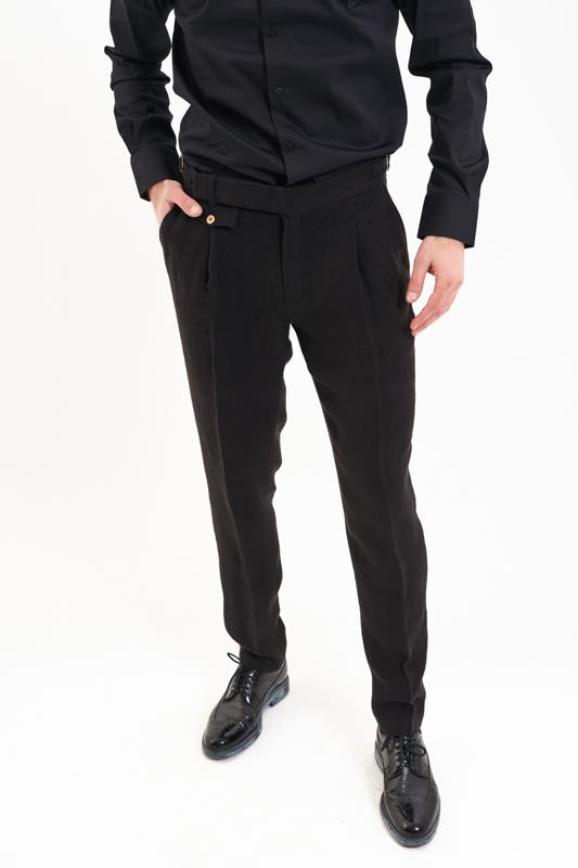Black Muntenia Hemp Trousers