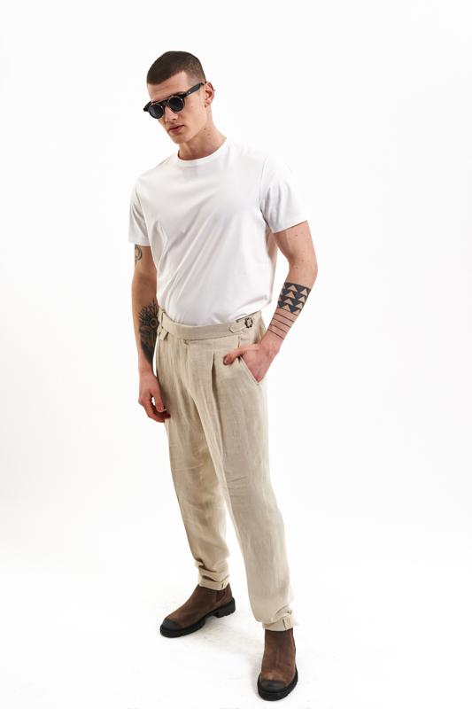 Beige Muntenia Hemp Trousers