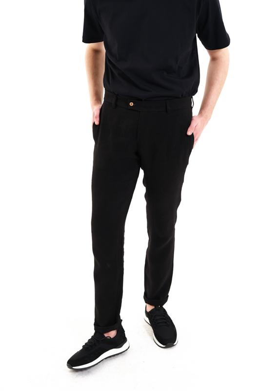 Black Dacian Hemp Trousers