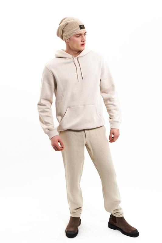 Beige Dacian Hemp Trousers
