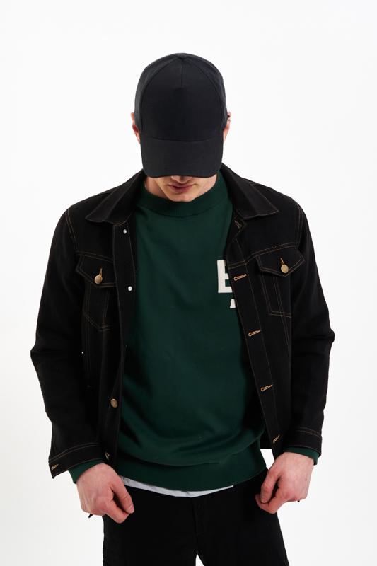 Black Ardeal Hemp Jacket