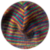 rainbow hemp beanie b